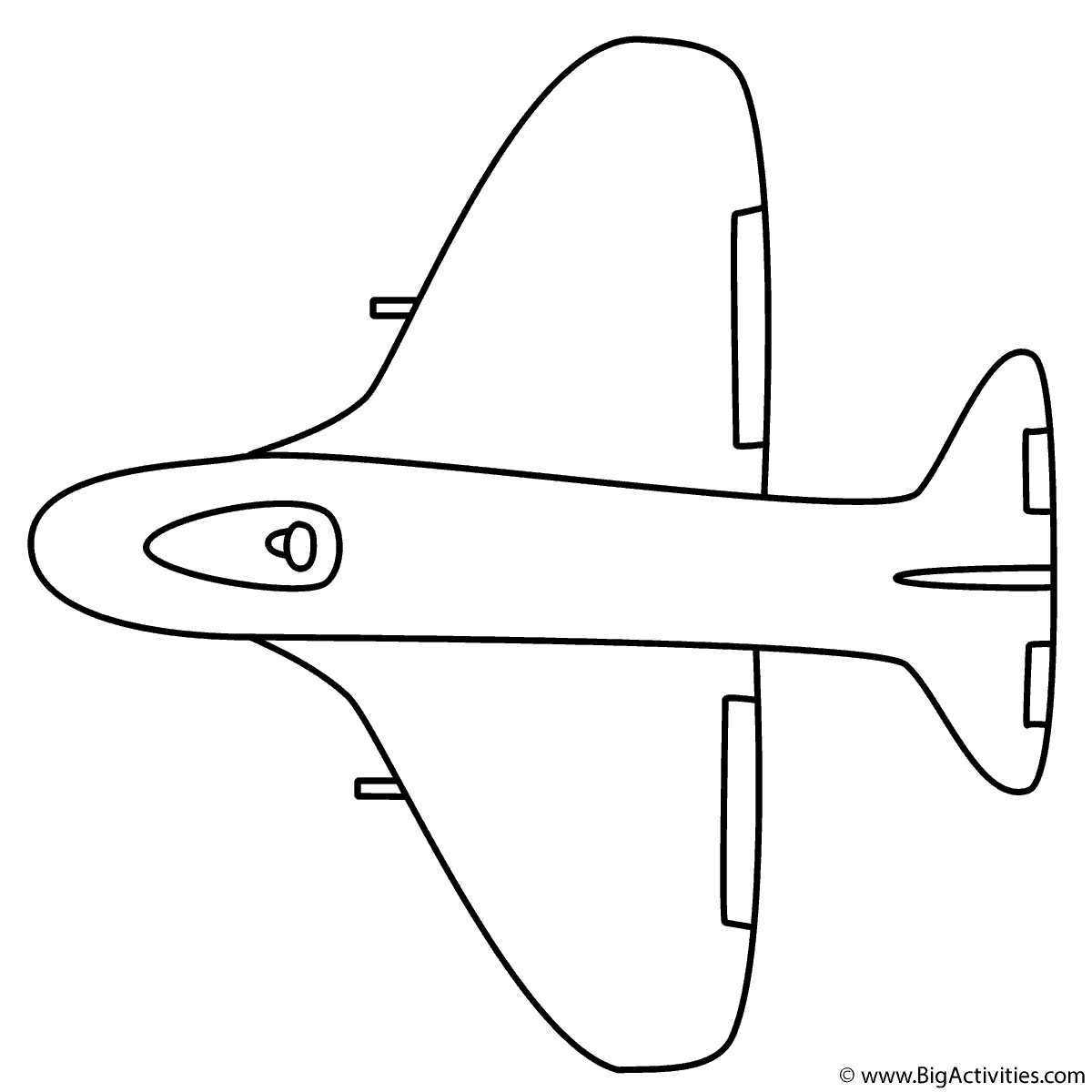 Fighter Airplane Coloring Page Military