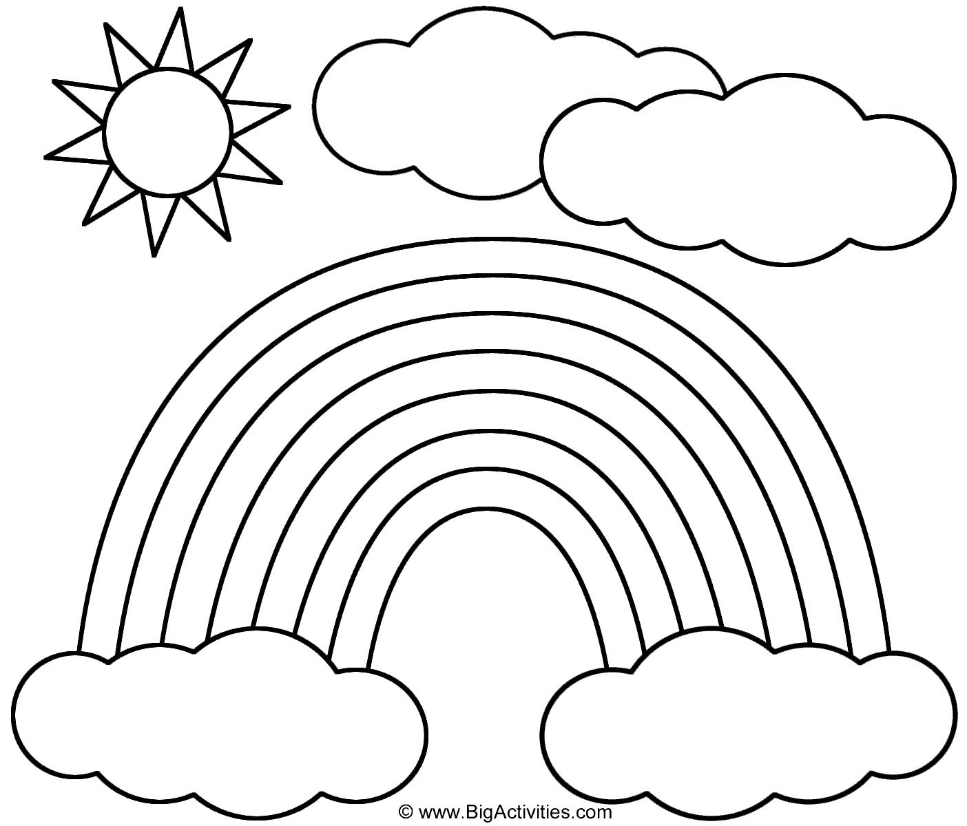 Rainbow Sun And Clouds