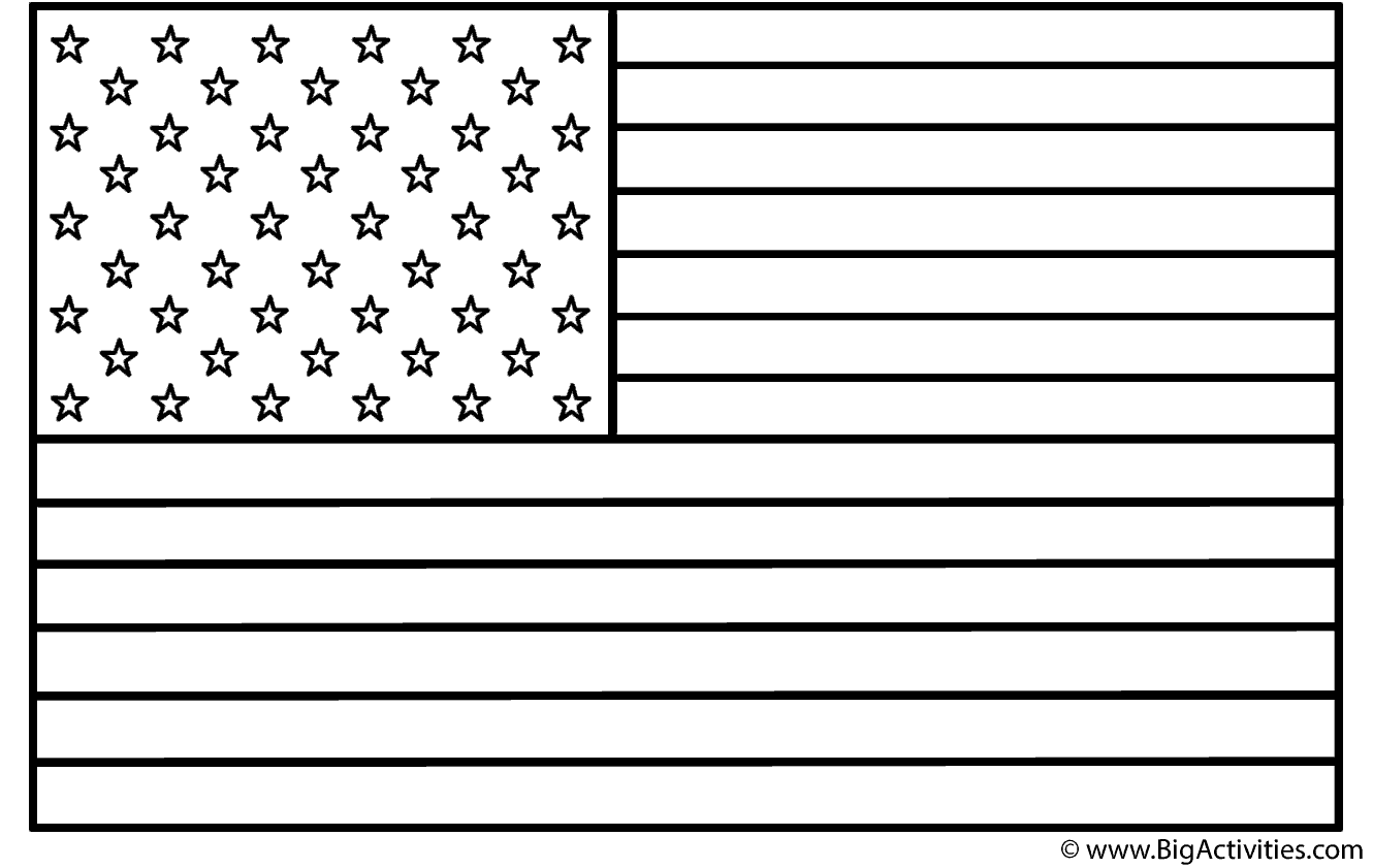 American Flag Coloring Page Presidents Day