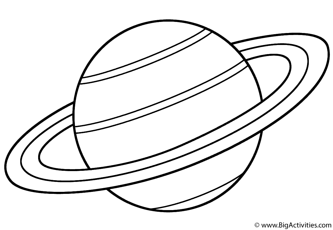 Planet Saturn With Title