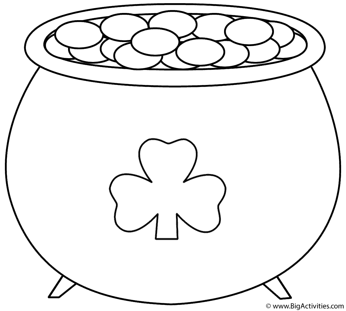 Pot Of Gold With Shamrock 2