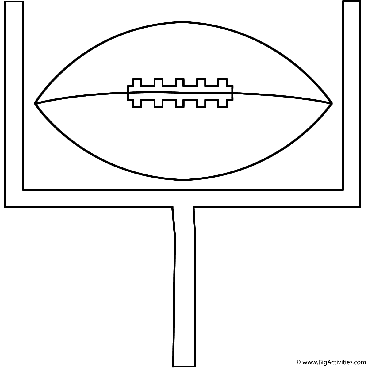 Football On Goal Post