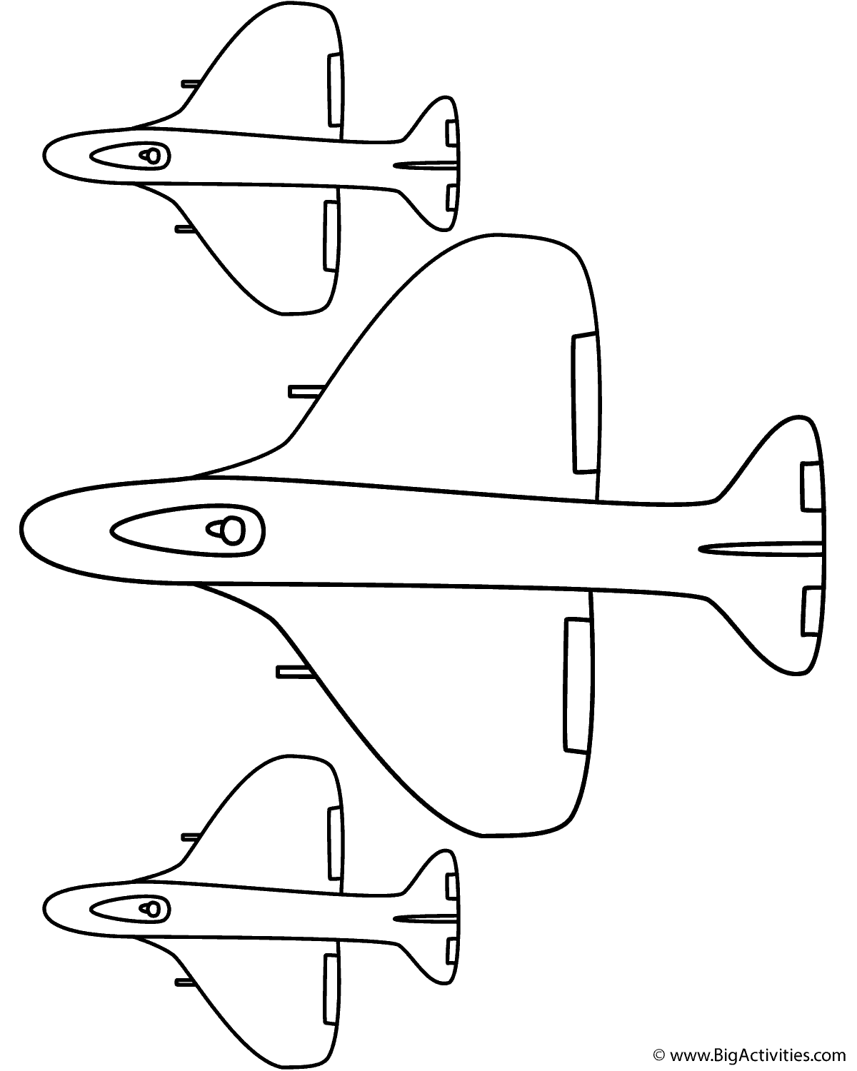 Fighter Airplane With Side Planes