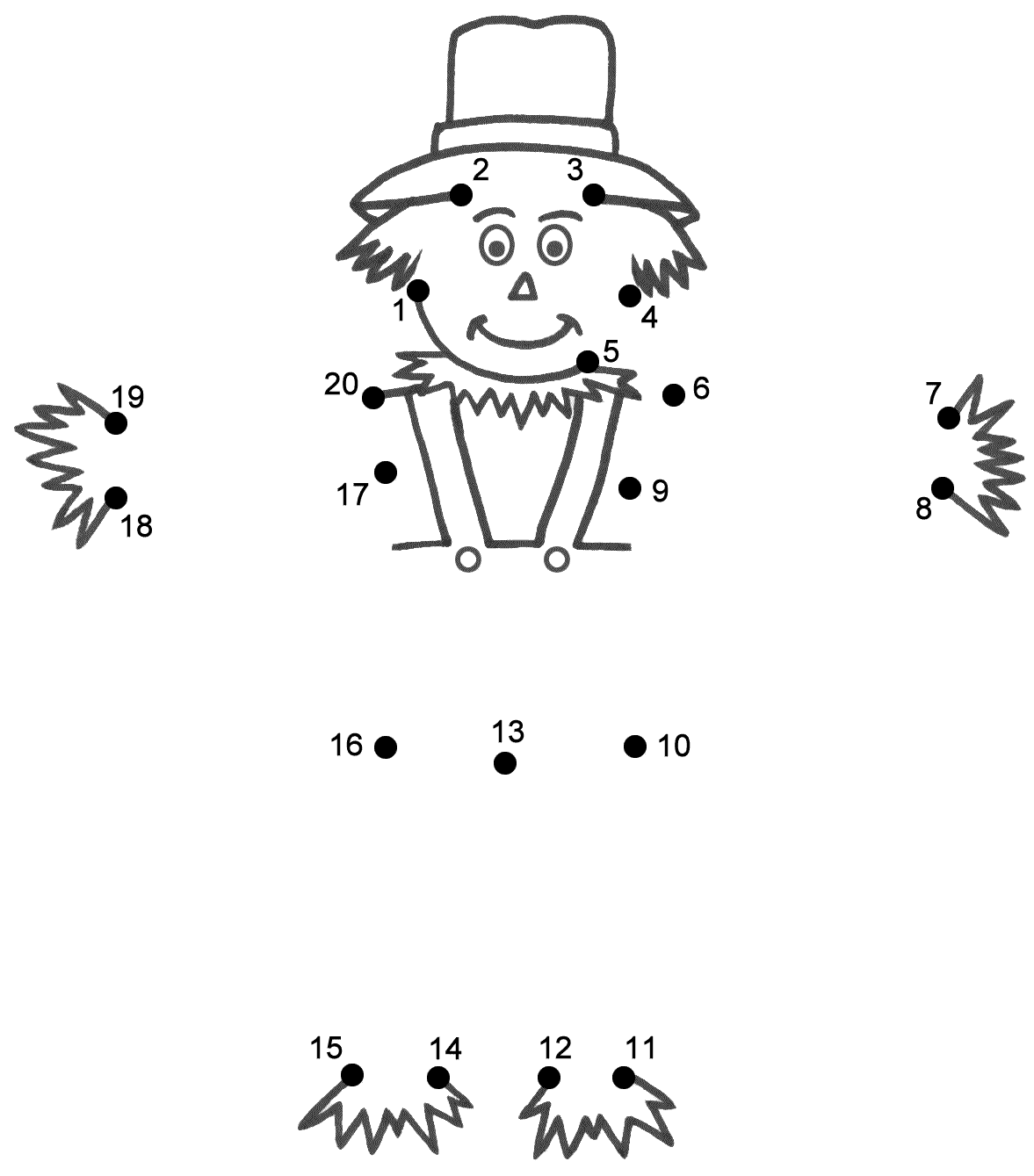 Scarecrow Hat Template For Crafts