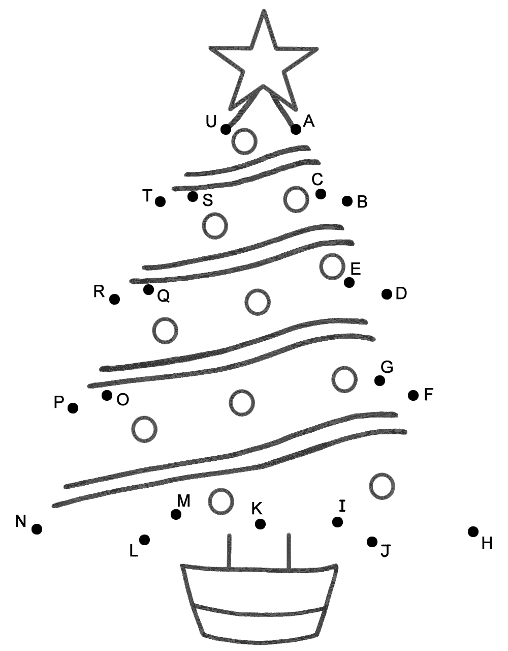 Christm S Tree C Nect Dots By C Pit L Letters Christm S