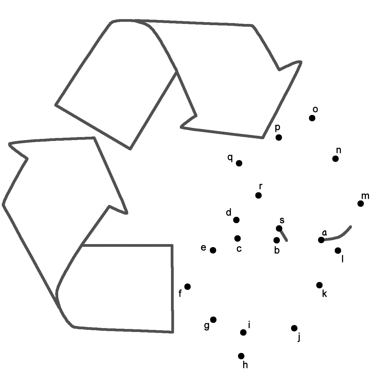 Recycle C Nect Dots By Lowerc Se Letters E Rth D Y