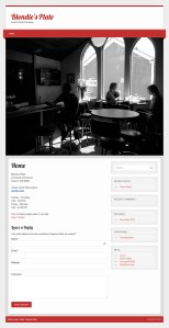 restaurant web redesign