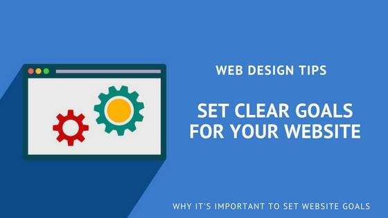 web design tips: set website goals