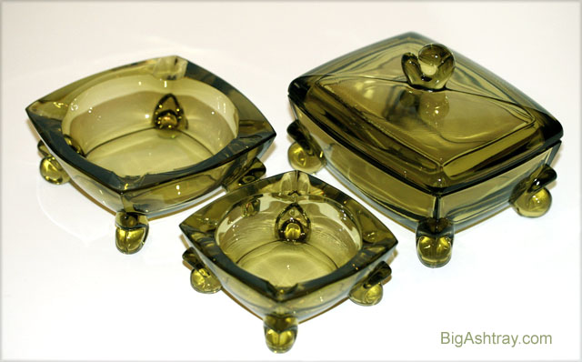 Duncan Miller Patio Line Glass Box And Ashtray Set