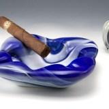 Vintage slag glass cigar ashtray made by Imperial Glass, USA, circa 1960's - 1970's.