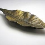 "Vintage RJ Reynolds bronzed ashtray marked: ""R.J. Reynolds Tobacco Co Tobacco Leaf Made in U.S.A."""