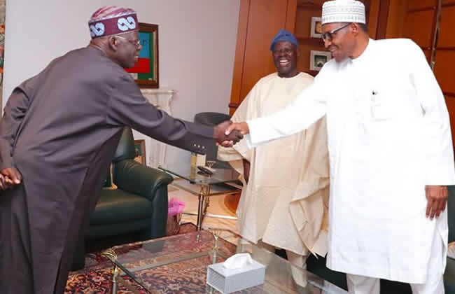 Buhari Meets With Tinubu And Bisi Akande