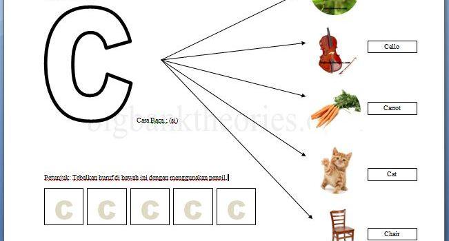 Lembar Latihan Alphabet Huruf C