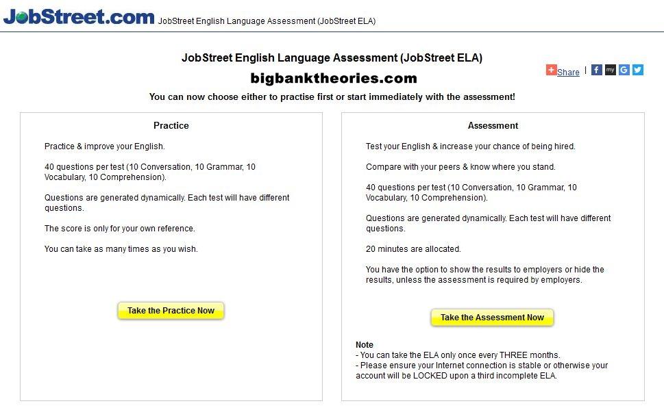 Kunci Jawaban Test Bahasa Inggris Di Jobstreet