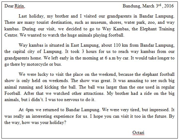 Soal Reading - Text Letter