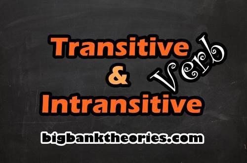 Kata Kerja Transitif Dan Intransitif