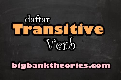 Transitive Verb List