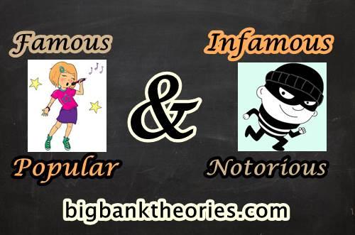 Pengertian Famous, Popular, Infamous Dan Notorious Dalam Bahasa Inggris
