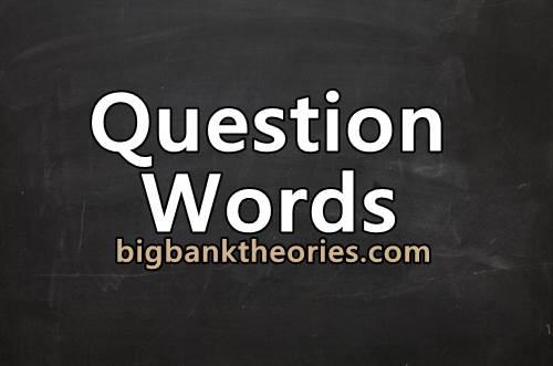 Rumus Question Word