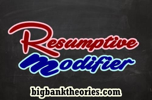 Contoh Kalimat Resumptive Modifier