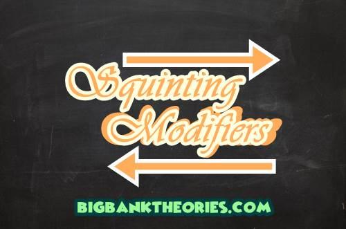 Contoh Squinting Modifiers Dalam Kalimat