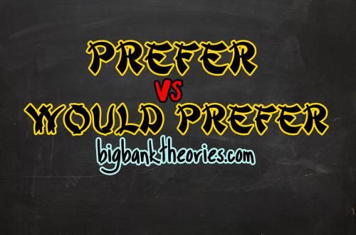 Penggunaan Prefer Dan Would Prefer