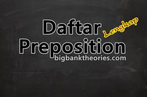 List Preposition Dalam Bahasa Inggris