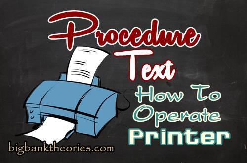 Cara Menggunakan Printer Dalam Bahasa Inggris