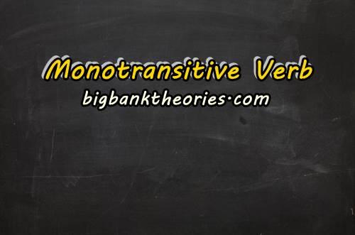 Contoh Monotransitive Verb Dan Penggunaannya Dalam Kalimat