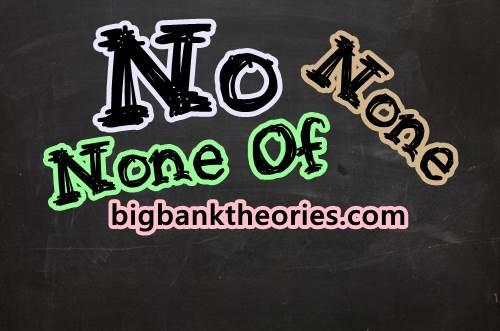 Contoh Kalimat Menggunakan Kata No, None dan None Of