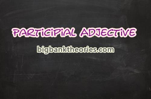 Participle Adjective ing and ed