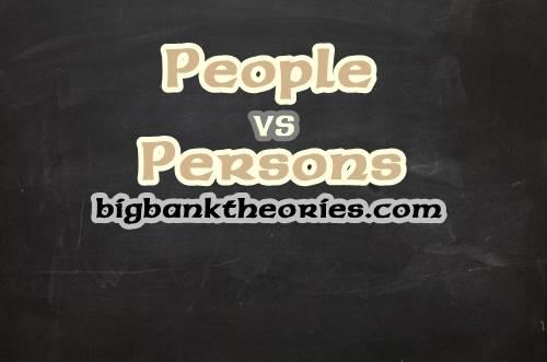 Contoh Kalimat Menggunakan Kata People dan Persons