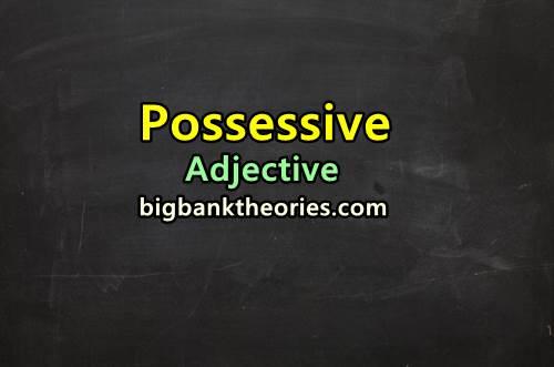 Contoh Possessive Adjective