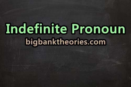 Contoh Kalimat Indefinite Pronoun