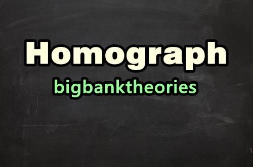 Pengertian Homograph