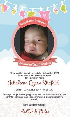 Example Of Aqiqah Invitations
