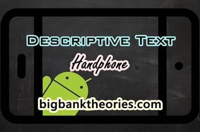 Contoh Descriptive Text Singkat Tentang Handphone Kesayangan