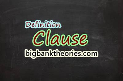 Types of Clause In English