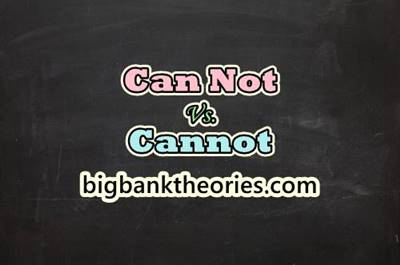 Can Not vs Cannot