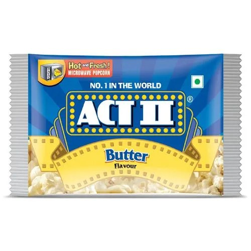 act ii microwave popcorn butter 33 g pouch