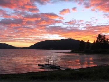 Sunset over Big Bear Lake