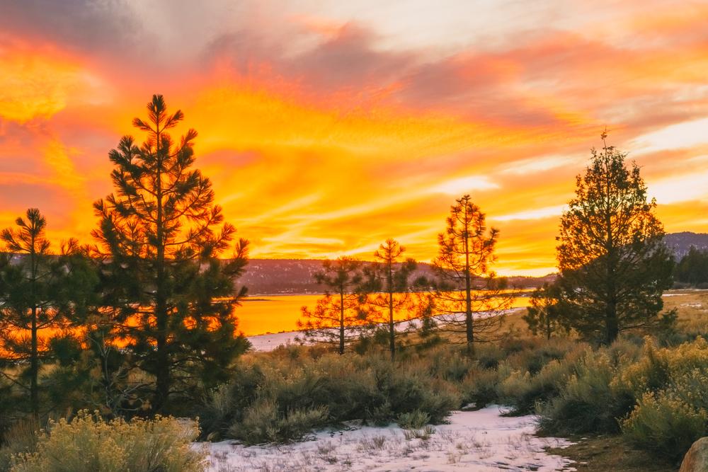 Sunset in Big Bear Lake