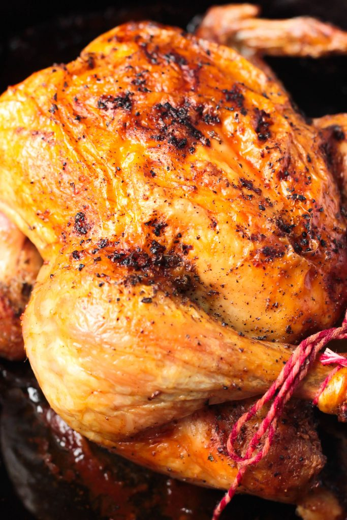 My Favorite Way to Roast a Whole Chicken - There are tons of ways to roast a chicken but this is My Favorite Way to Roast a Whole Chicken! It's great to eat as is, perfect for topping salads, chicken pot pie or chicken salad!