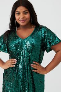 Green Sequin Tunic
