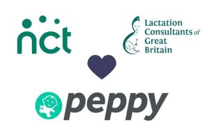 NCT peppy and Lactation Consultants of Great Britain logos