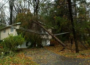hurricane sandy damage coopersburg pa