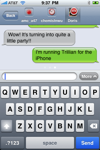 Trillian for iPhone chat