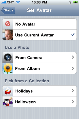 Trillian for iPhone settings