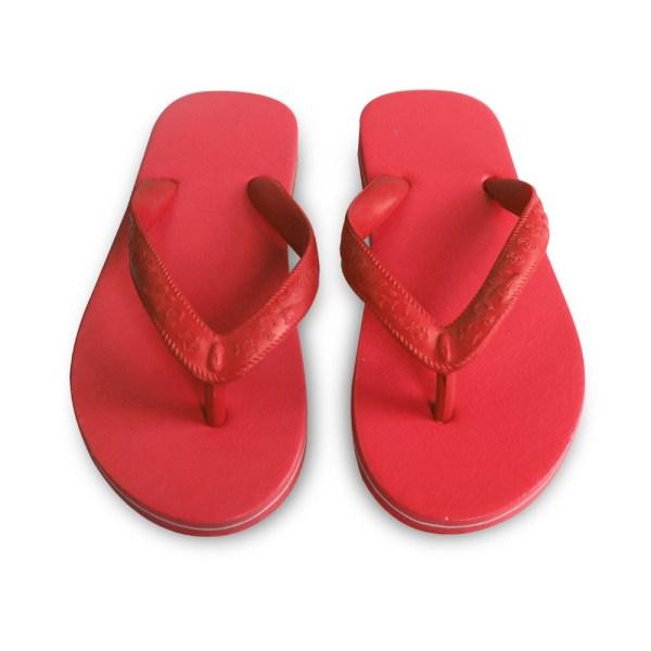 รองเท้าแตะม้าดาว3หูสีแดง