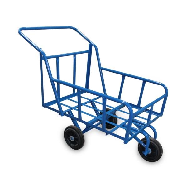 รถเข็นน้ำล้อPVC(มังกรทอง)สีฟ้า
